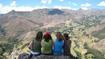friends on the mountain peak