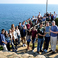Foreign students in a study abroad trip to Barcelona, Spain