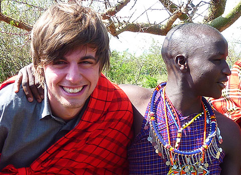 Kaya Responsible Travel participant with the locals