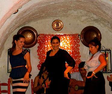 Flamenco dancing.