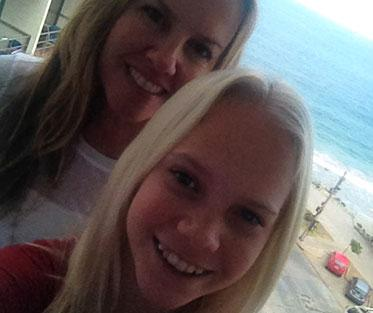 Kimberly with her daughter on their last trip to Vina del Mar and Valparaiso, Chile to visit Adelante program sites.