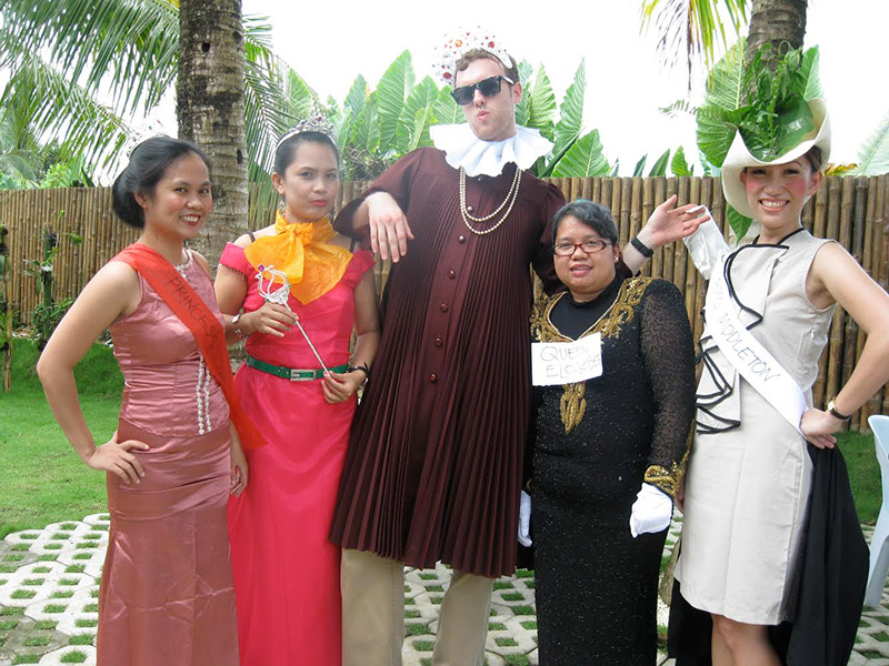 A group of people in costumes
