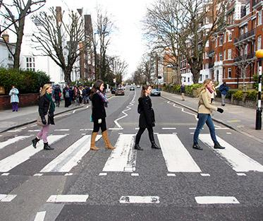 Crossing the Famous Abbey Road.