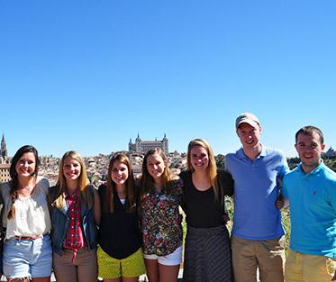 Tyler and his classmates on a trip to Toledo, Spain.