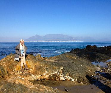 View of Cape Town coast.