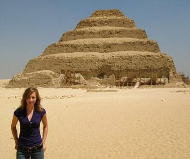 Djoser's Step Pyramid at Saqqara, Egypt.