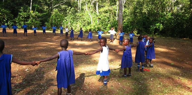 Elementary school students in Najjembe, Uganda