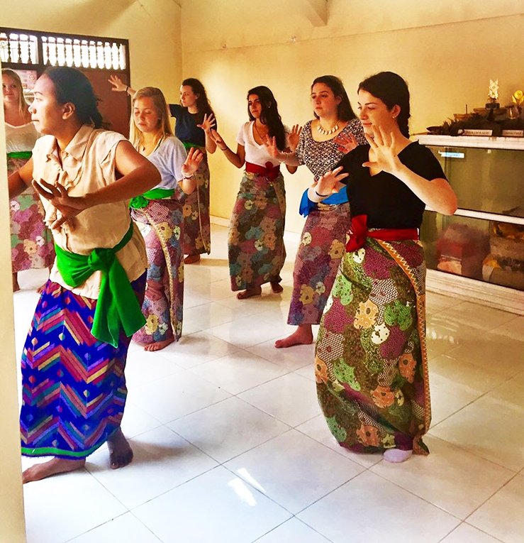 Balinese dance lesson in Indonesia