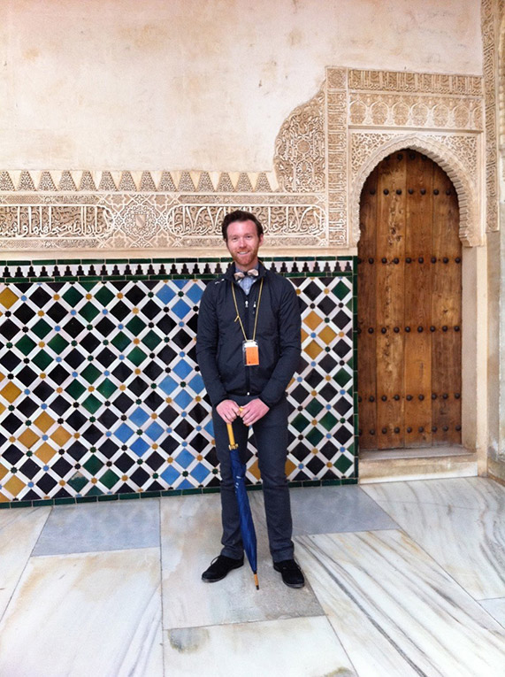 At the Alhambra in Granada, Spain