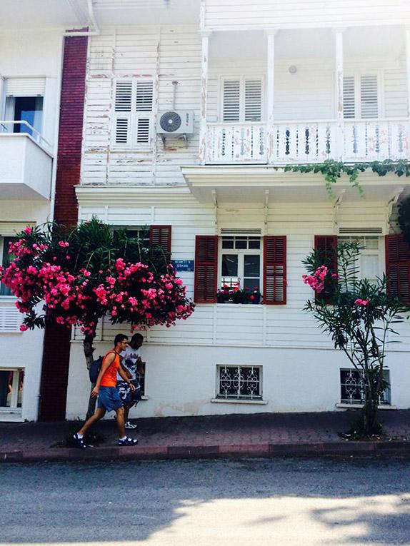 House on the island of Büyükada in Turkey