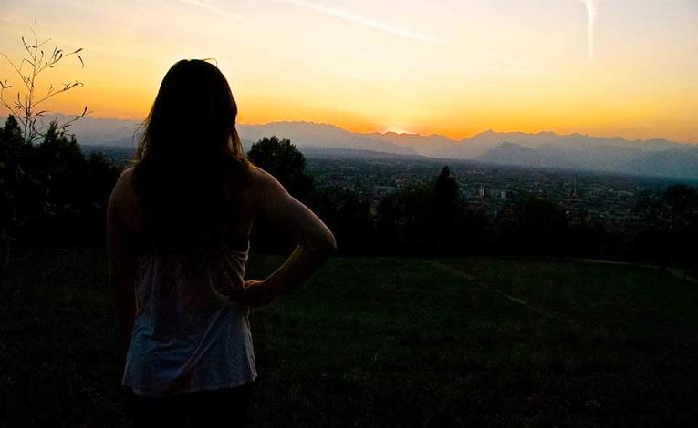 Sunset in Torino, Italy