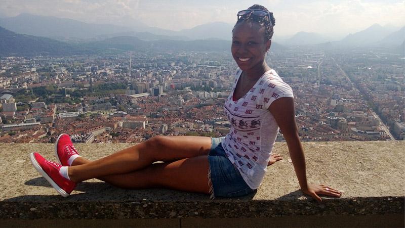 The Bastille overlooking Grenoble, France