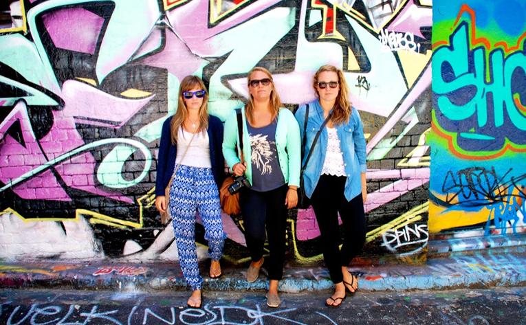 Graffiti along Hosier Lane, Melbourne, Australia