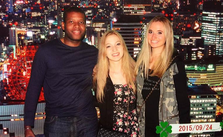Friends in Osaka, Japan