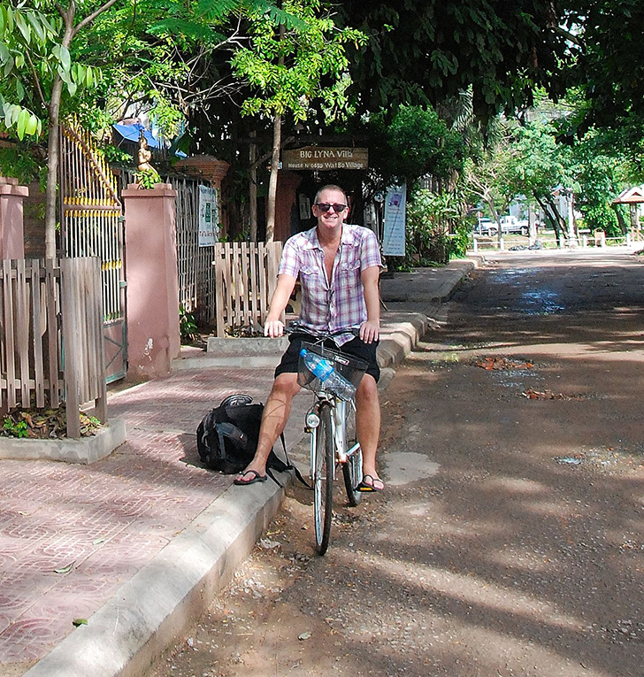 Cycling in Siem Reap, Cambodia