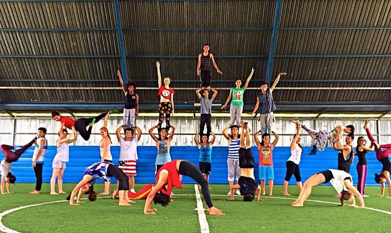 Members of Circo Fantazztico in Costa Rica