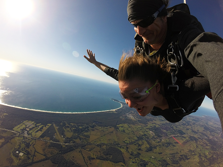 Skydiving in Byron Bay, New South Wales, Australia