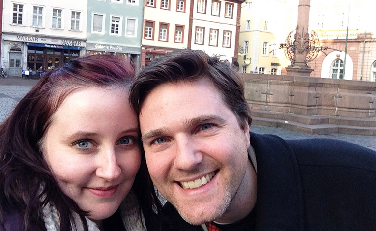 John and Stacy Benander in Germany