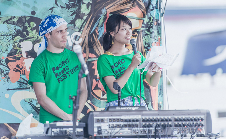 Emcees at Pacific Roots 2015 in Yokohama, Japan