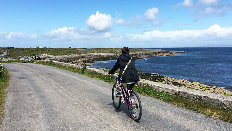 Biking around the Aran Islands, Ireland
