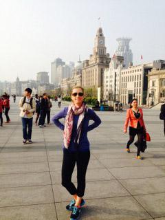 Runner in Shanghai, China