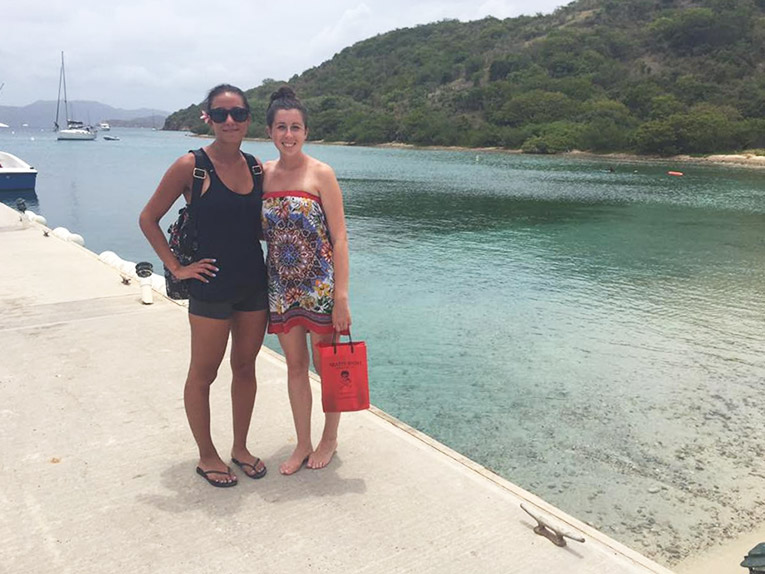 Foreign tourists near a beach in Thailand