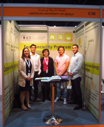 American University of Beirut stand at the 2015 Global Forum on Innovations in Agriculture in Abu Dhabi