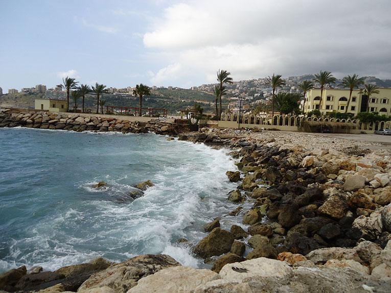 Jounieh coastline in Beirut, Lebanon