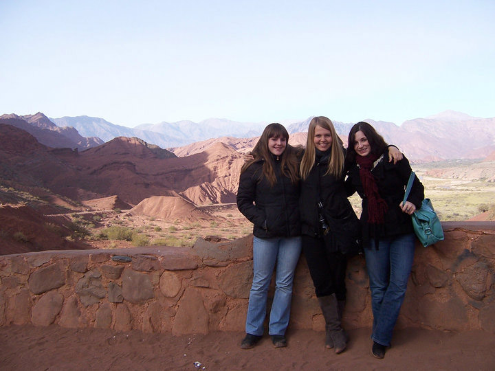 Study abroad students traveling in Northern Argentina