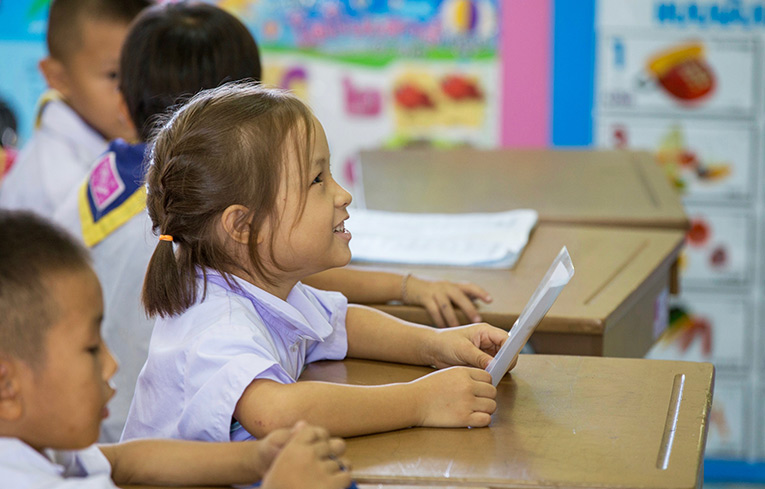 Young Thai school girl