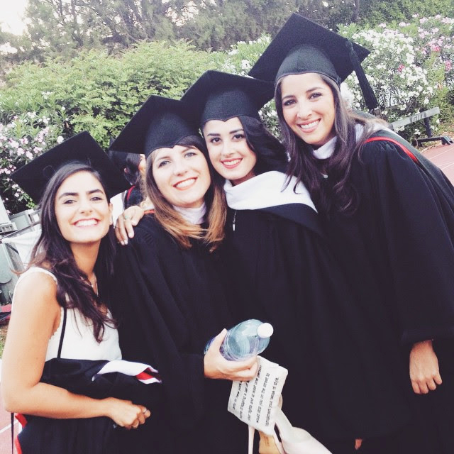 Students after graduation at the American University of Beirut