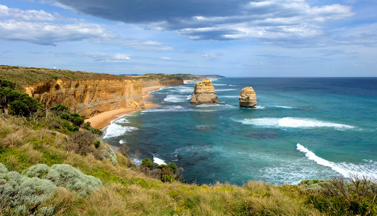 Ocean view along the Great Ocean Road in Australia
