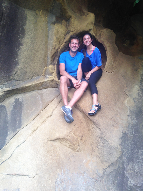 Hiking in the caved in San Sebastian, Spain