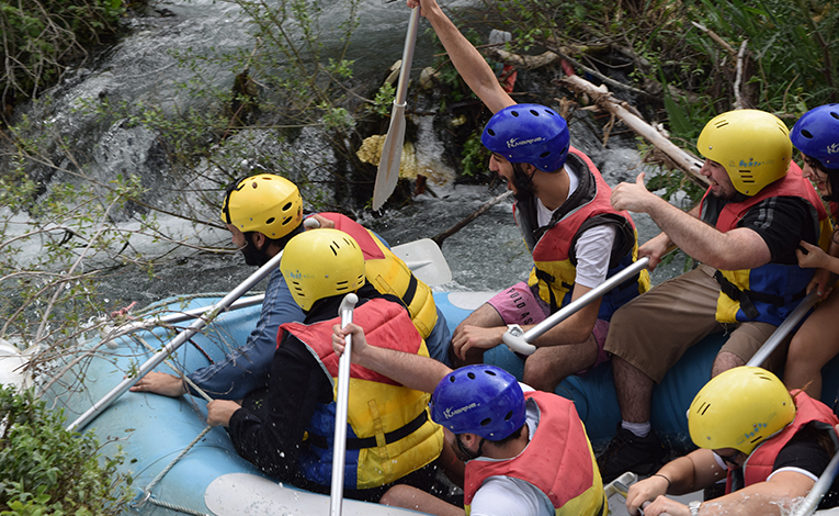 Rafting on the Assi River in Lebanon