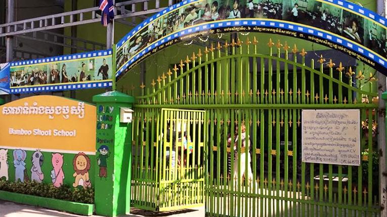Bamboo Shoot School in Cambodia