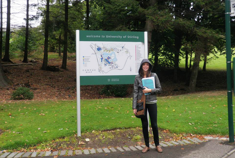 Sign at the University of Stirling campus