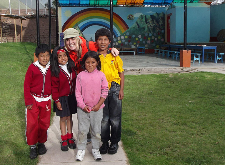 Children at Kiya Survivors Rainbow House in Peru