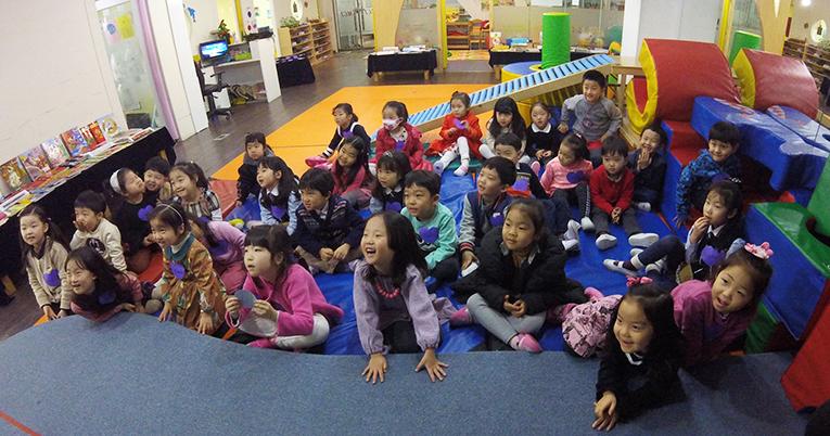 Kindergarteners in South Korea