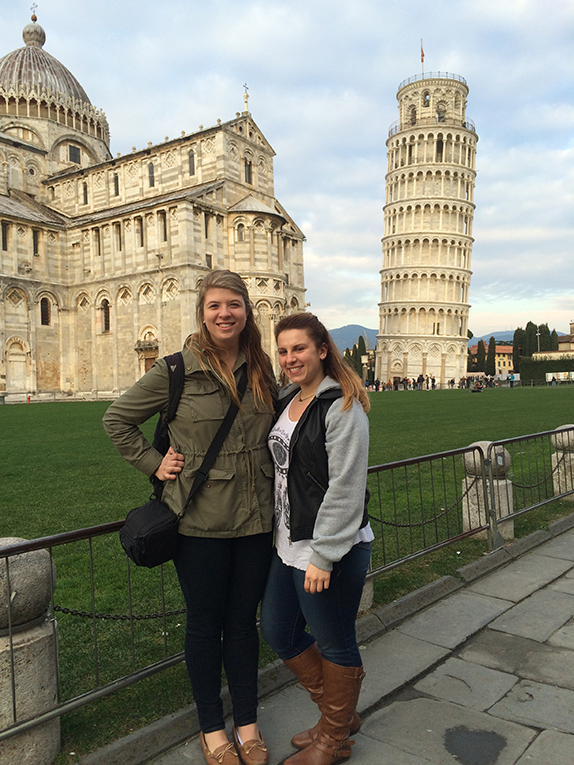 St. Marys Cathedral and the Leaning Tower of Pisa in Italy