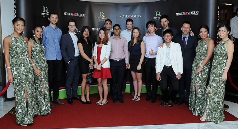Asia Internship Programme Global ground team at Movers and Shakers event