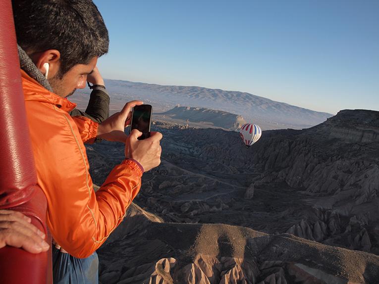 Hot air balloon ride over Cappadocia, Turkey