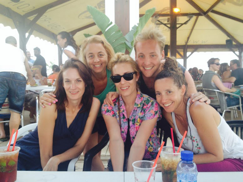 Oxford TEFL staff at a summer beach party