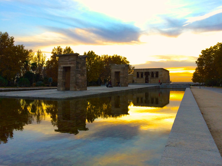 Templo de Debod in Madrid, Spain
