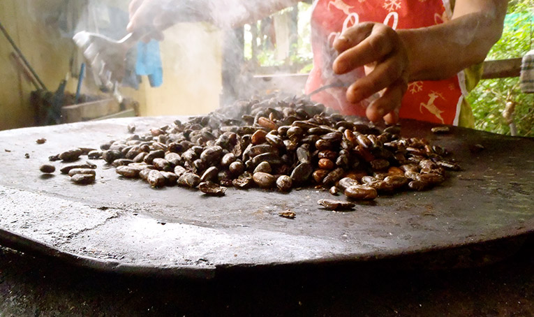 Chocolate making in Longo Mai, Costa Rica