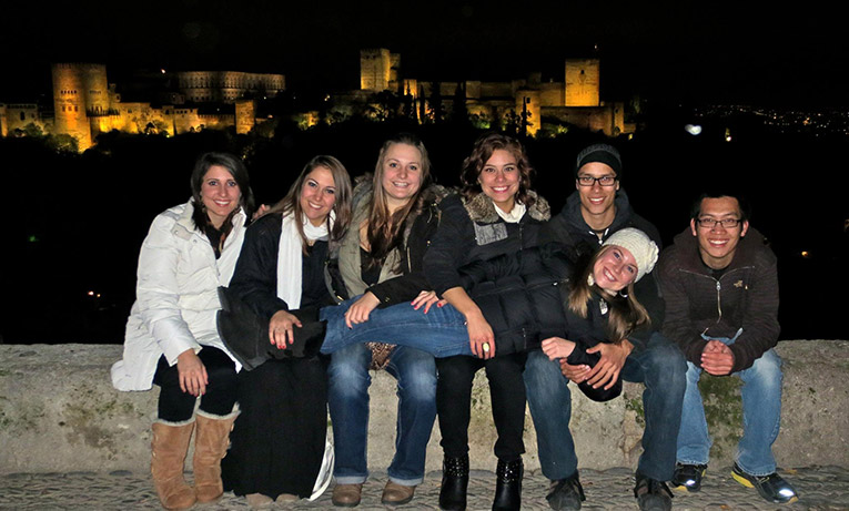 Study abroad students in Granada, Spain