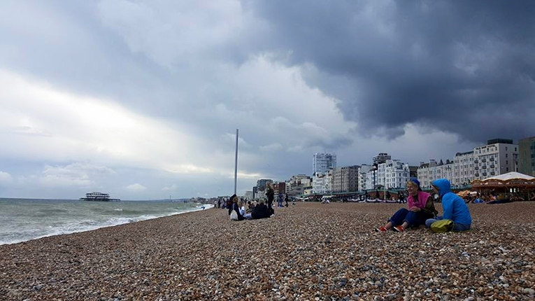Beach in Brighton, England