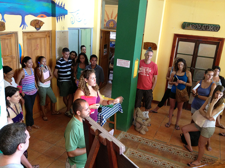 Students at a language school in Costa Rica