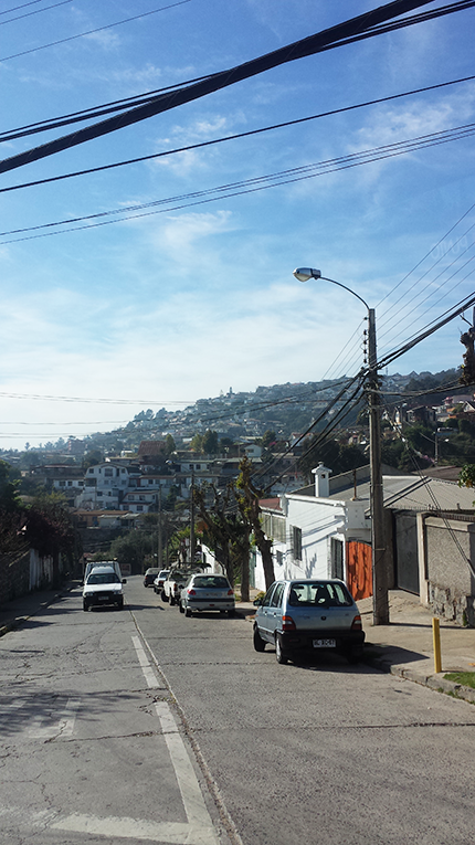 Street in Valparaiso, Chile