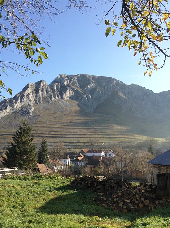 Mountain view in Torosco, Transylvania, Romania