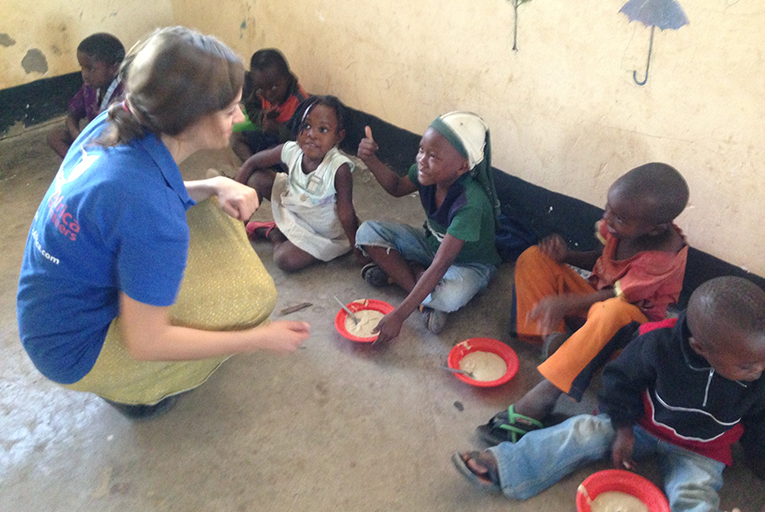 Nursery feeding programme in Malawi